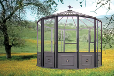 Euroserre italia orangeries da giardino serre e verande for Serre da giardino policarbonato