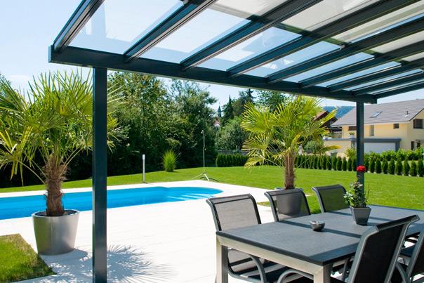 Pergolati Da Giardino In Alluminio : Euroserre italia pergolati in alluminio con tetto vetrato per