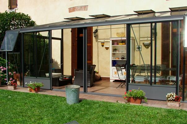 Euroserre italia veranda per piante serra addossata da - Verande su terrazzi ...